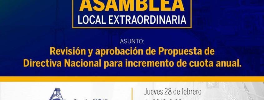 Primera Asamblea Local Extraordinaria 2019 CIPM Carmen